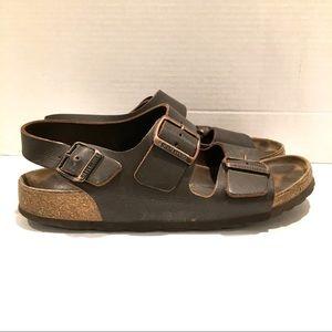 Birkenstock leather sandals size 39